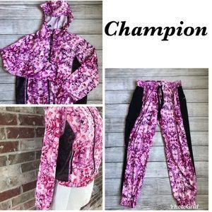 Champion Hooded Jacket / pants Sport Set Sz M